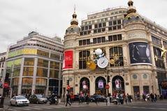 Grandes almacenes París de Printemps Foto de archivo libre de regalías