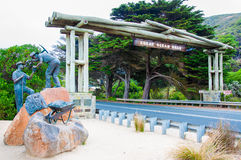 Grandes arco da estrada do oceano e monumento do memorial no estado de Victoria, Austrália Foto de Stock