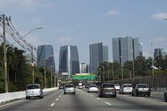 Grandes avenidas em Sao Paulo, Brasil fotos de stock