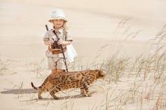 Grandes aventures dans le désert Images stock