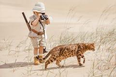 Grandes aventures dans le désert Photographie stock libre de droits