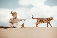 Grandes aventures dans le désert Image stock