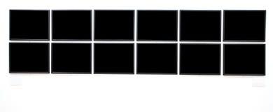 Grandes bandeiras pretas vazias Imagem de Stock