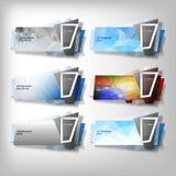 Grandes bannières d'Infographic réglées, vecteur dénommé par origami illustration stock