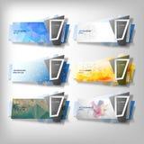Grandes bannières d'Infographic réglées, vecteur dénommé par origami illustration libre de droits