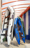 Grandes barcos infláveis Imagens de Stock