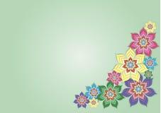 Grandes belles fleurs sur un fond noir Images libres de droits