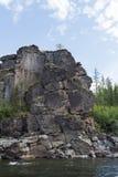 Grandes belles rivières de la Sibérie orientale Photographie stock libre de droits
