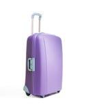 Grandes belles valises une pourprées Images libres de droits