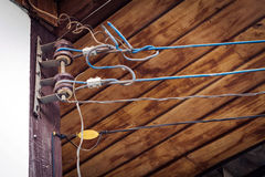 Grandes bobines d'électrique Photos libres de droits