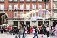 Grandes bolhas de sabão fotografia de stock royalty free