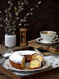 Grandes bolo e galhos do salgueiro Imagens de Stock Royalty Free