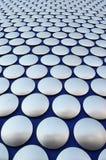 Grandes botões de prata Fotos de Stock