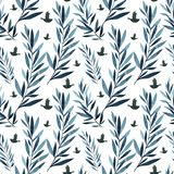 Grandes branches de bleu et d'indigo images stock