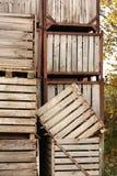 Grandes caisses en bois Image libre de droits