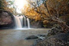 Grandes cascades à écriture ligne par ligne Photo stock