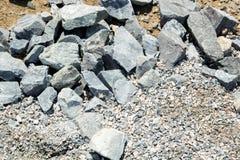 Grandes cascalho e areia da textura Foto de Stock