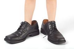 Grandes chaussures à remplir Photographie stock libre de droits