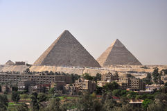 Grandes cheops da pirâmide em giza Fotos de Stock Royalty Free
