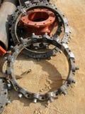Grandes conectores da tubulação de água imagens de stock