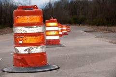 Grandes cones da estrada Foto de Stock