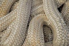 Grandes cordas enrolado junto nos testes padrões Imagem de Stock Royalty Free