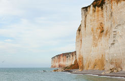 Grandes Dalles cliffs in France Stock Image