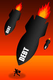Grandes dettes Images stock