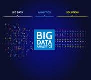 Grandes données abstraites assortissant l'information Analyse d'information Exploitation de données Algorithmes de filtrage de ma illustration stock