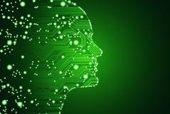 Grandes données et concept d'intelligence artificielle Image libre de droits