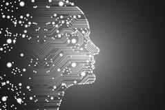 Grandes données et concept d'intelligence artificielle Images libres de droits