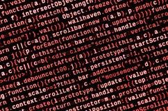 Grandes données et Internet de tendance de choses Lieu de travail informatique de spécialiste Code de HTML de site Web sur l'affi image libre de droits