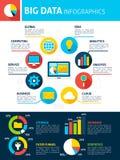 Grandes données Infographics Photos stock