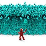 Grandes données Vague énorme de tsunami de caractères homme 3d illustration 3D illustration de vecteur