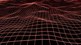 Grandes donn?es rouges et information traversant le cyberespace illustration de vecteur