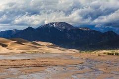 Grandes dunas de areia Imagens de Stock Royalty Free