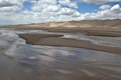 Grandes dunas de arena Fotos de archivo libres de regalías