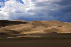 Grandes dunas de arena Imagen de archivo libre de regalías