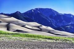 Grandes dunas de arena Imágenes de archivo libres de regalías