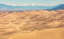 Grandes dunas de arena Fotografía de archivo libre de regalías