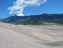 Grandes dunes de sable, le Colorado, Etats-Unis Image libre de droits