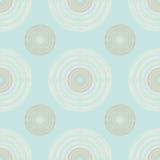 Grandes e círculos pequenos de Brown e de marfim de linhas múltiplas no Pas Imagem de Stock