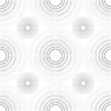 Grandes e luz e obscuridade pequenas Grey Gradient Circles do múltiplo Fotografia de Stock