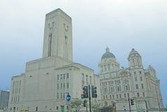 grandes edificios de los liverpools Fotos de archivo