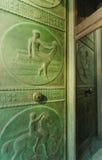 Grandes entrées principales en bronze, banque de Canada, Ottawa image libre de droits