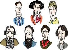 Grandes escritores rusos Foto de archivo
