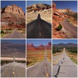 Grandes estradas americanas Fotos de Stock Royalty Free