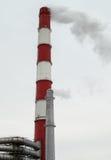 Grandes et petites piles de cheminée Photo libre de droits