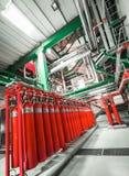 Grandes extintores do CO2 Foto de Stock Royalty Free