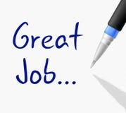 Grandes felicitações de Job Means Accomplishment Celebration And Imagens de Stock Royalty Free